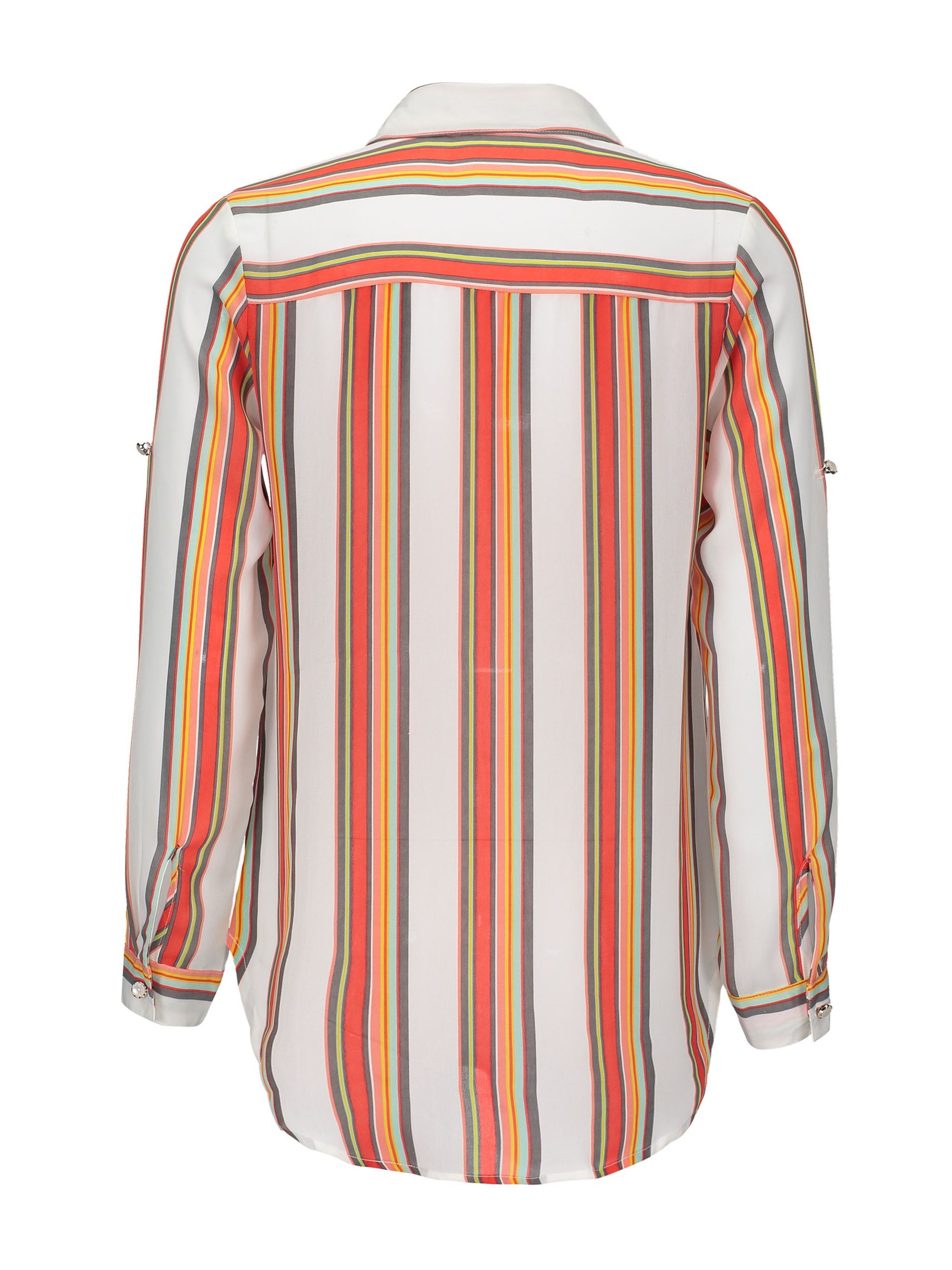 Ericdress Vertical Stripe Single-Breasted Women's Shirt