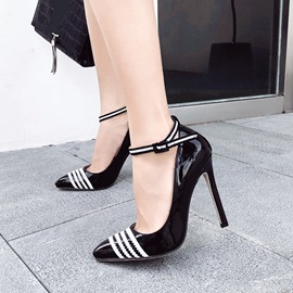 Ericdress Color Block Line-Style Buckle Stiletto Heel Pumps