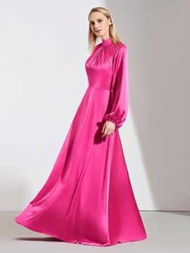 Ericdress A Line High Neck Long Sleeves Evening Dress