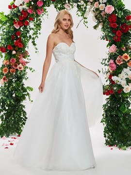 Ericdress Sweetheart Appliques Garden Wedding Dress