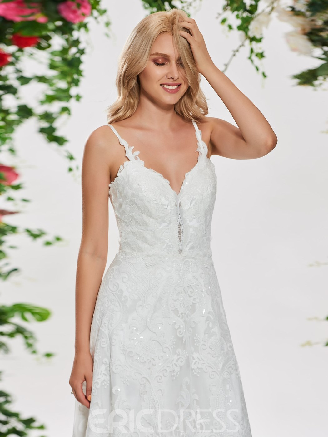 Ericdress A Line Lace Garden Wedding Dress
