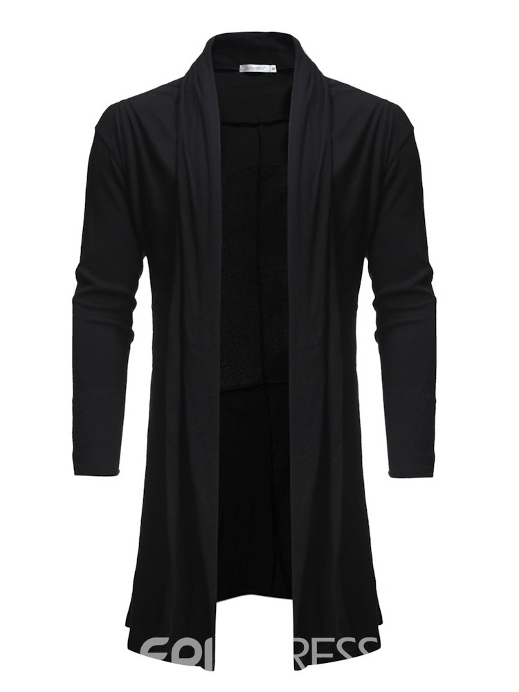 Ericdress Plain Asymmetrical Mid-Length Mens Casual Cardigan Sweaters