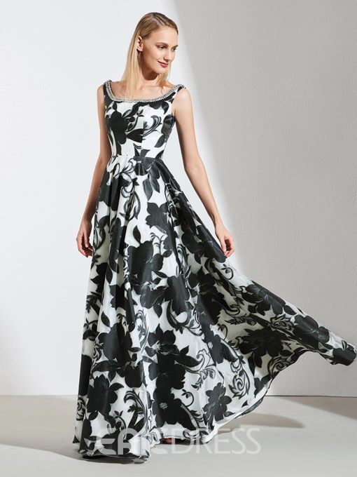 Ericdress A Line Printed Long Prom Party Dress