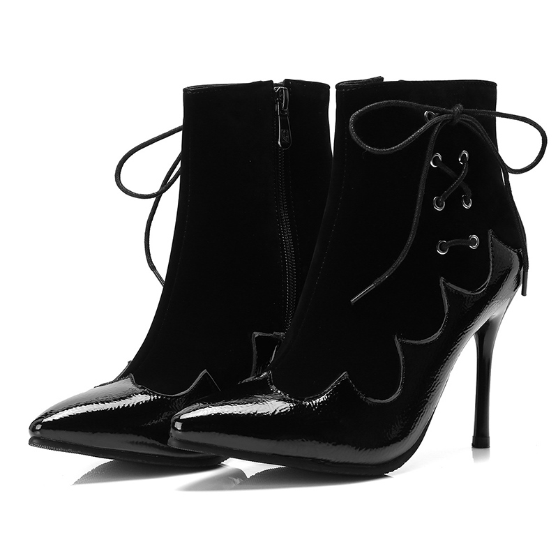 Ericdress Patchwork Stiletto Heel Women's Ankle Boots