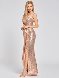 Ericdress Presale Scoop Neck Sequins Sheath Evening Dress thumbnail