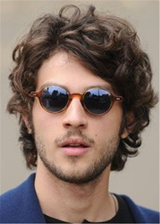 Ericdress Shaggy Short Curly Synthetic Hair Lace Front Mens Wig фото