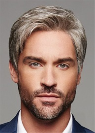 Short Cut Synthetic Straight Hair Men's Lace Front Wig