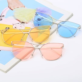 Ericdress Metal Lens Sunglasses