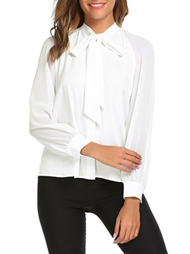 Ericdress Tie Front Loose Button-Down Womens Top