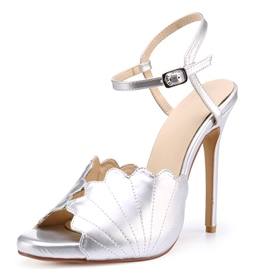 Ericdress Ankle Strap Peep Toe Stiletto Sandals
