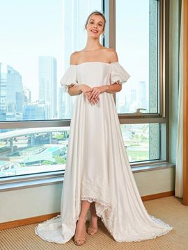 Ericdress Off the Shoulder High Low Wedding Dress