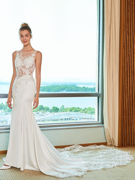 Ericdress Illusion Neckline Backless Mermaid Wedding Dress