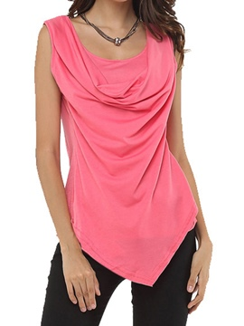 Ericdress Layered Hem Sleeveless Womens T Shirt