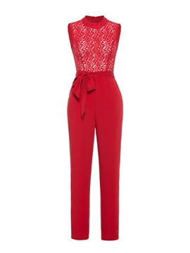 Ericdress Lace Sleeveless Women's Jumpsuit