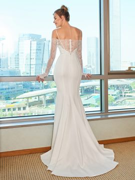 Ericdress Mermaid Open Shoulder Wedding Dress