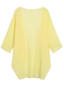 Ericdress Notch-V Plain Loose Sun Protective Clothing