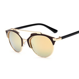 Ericdress Retro Half-Frame Sunglasses