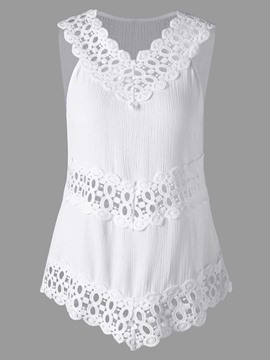 Ericdress Lace Patchwork Cami Womens Tank Top