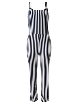 Ericdress Backless Stripe Women's Jumpsuit