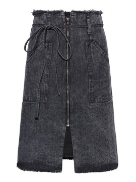 Ripped Split Denim Women's Skirt