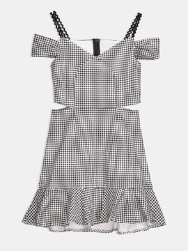 Summer Plaid Pattern A-Line Day Dress