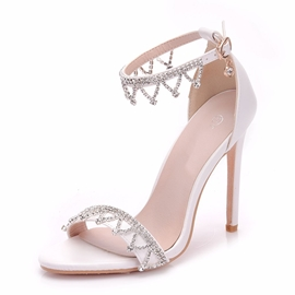 Ericdress Rhinestone Line-Style Buckle Wedding Shoes