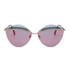 Ericdress Cat Eey Colourful Lens Sunglasses