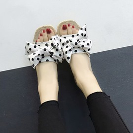 Ericdress Bowknot Polka Dot Slip-On Mules Shoes