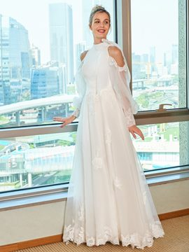 Ericdress Open Shoulder A Line Wedding Dress