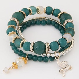 Ericdress Multilayer Crystal Bracelet