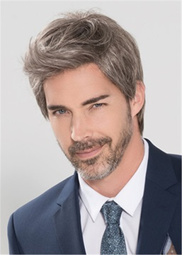 Ericdress Side Part Short Straight Synthetic Hair Capless Men's Wig