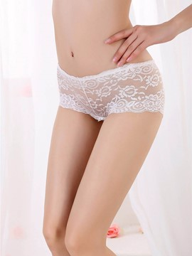 Eridress Butterfly Hollow Mesh Sexy Panty