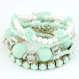Ericdress Multilayer Flower Bracelet