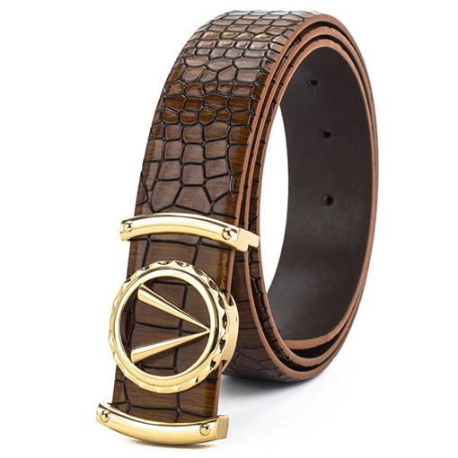 Ericdress V Crocodile Grain Men's Belt