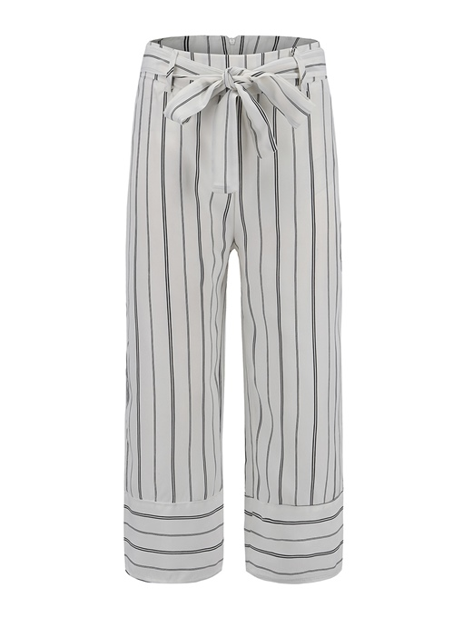 Ericdress Striped Mid-Calf Lace-Up Women's Pants