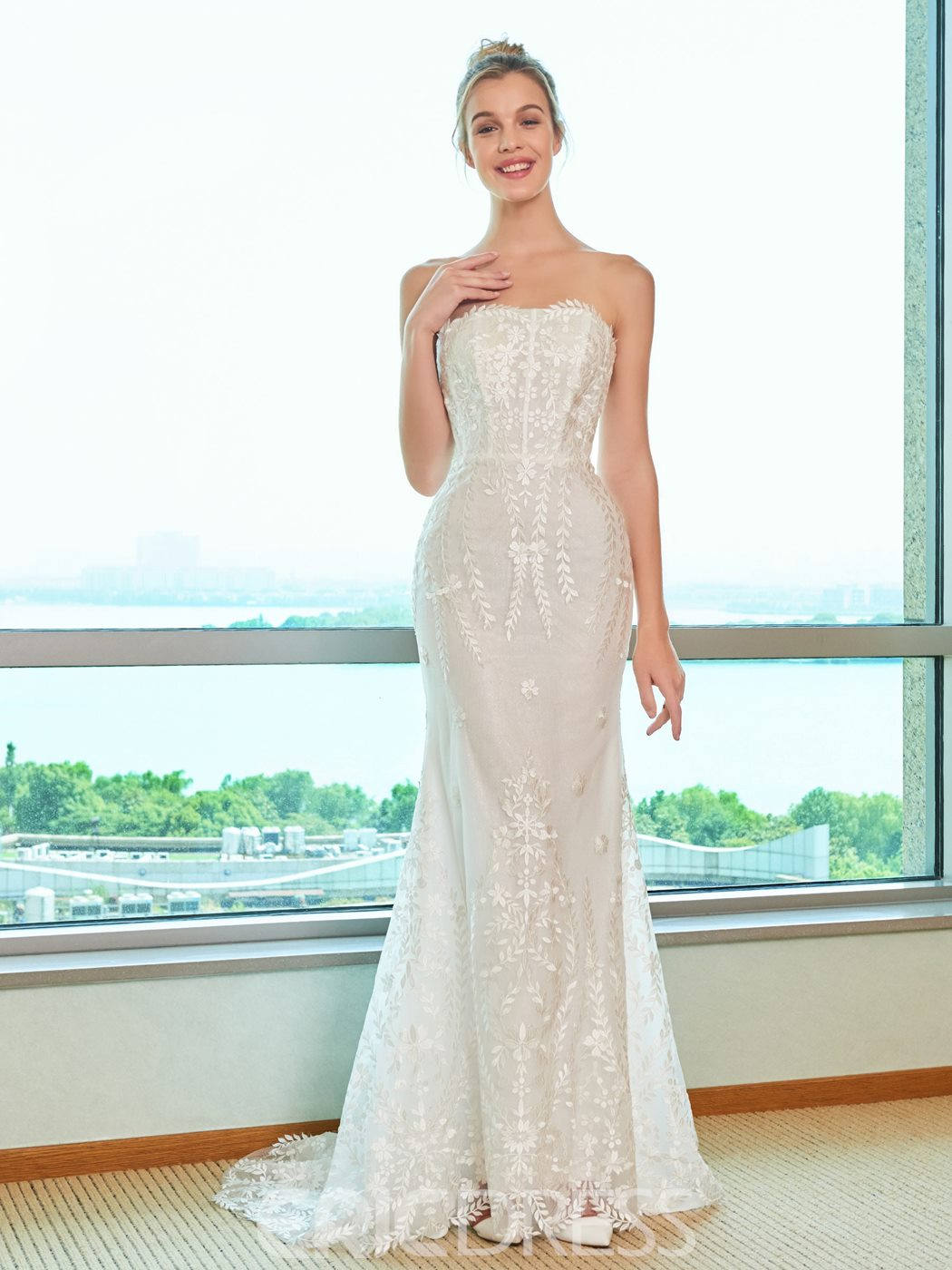 Ericdress Mermaid Strapless Wedding Dress
