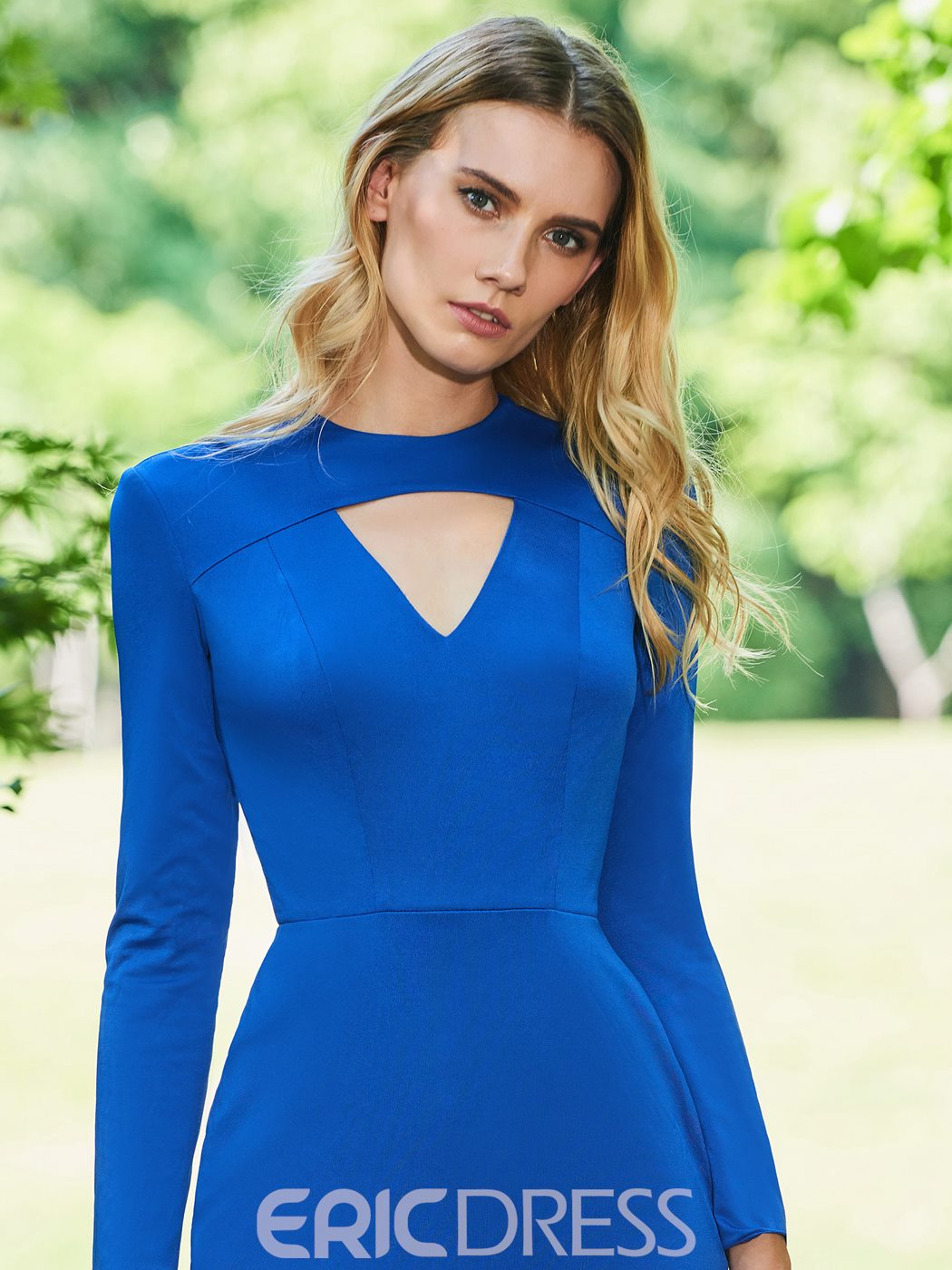 Ericdress Sheath Long Sleeve Cocktail Dress