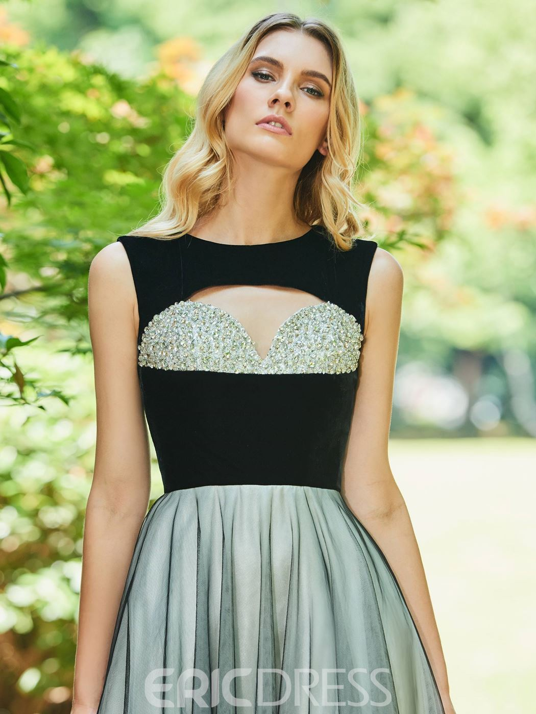 Ericdress A Line Multi Color Evening Dress With Beadings
