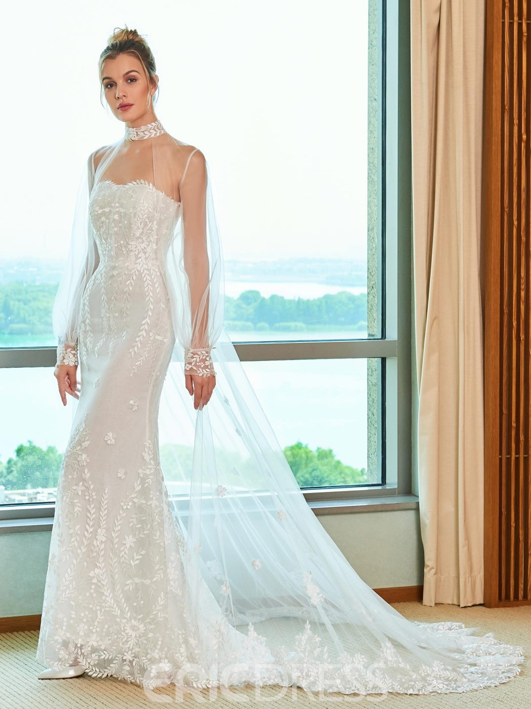 Mermaid Strapless Wedding Dress