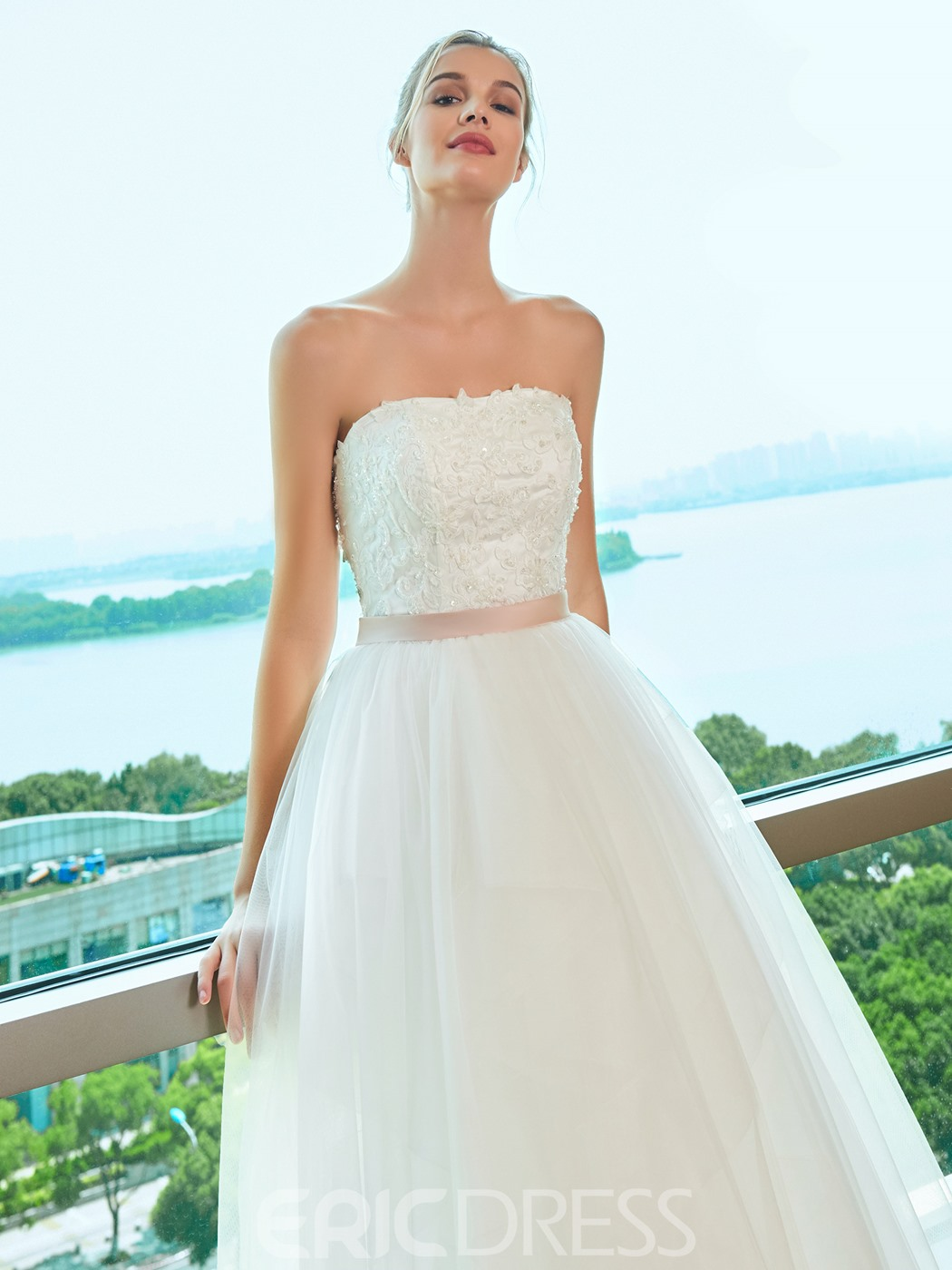 Ercdress Ball Gown Strapless Wedding Dress