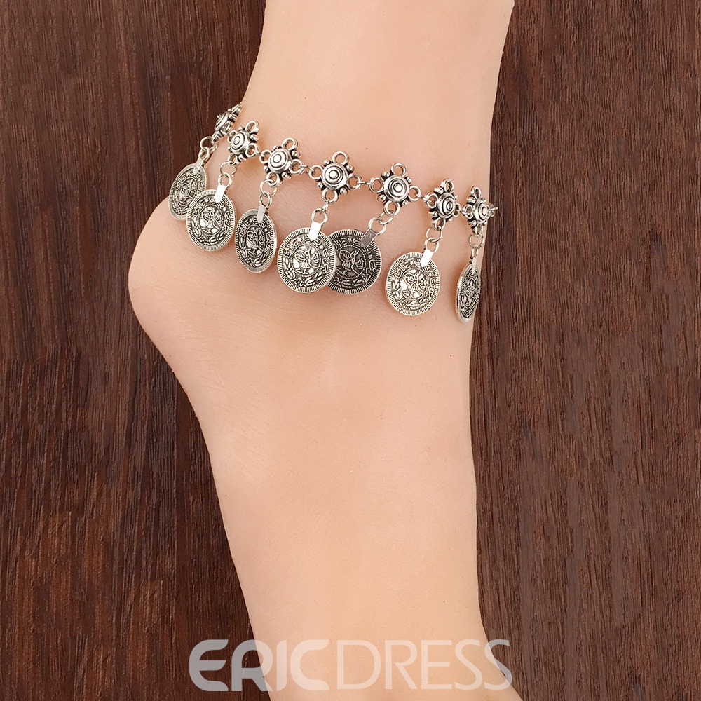 Ericdress Tassels Coin Beach Anklet For Women