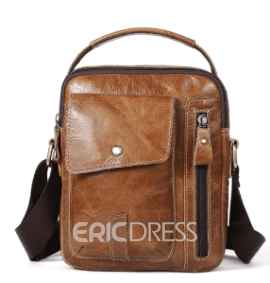 Ericdress Plain Leather Patchwork Rectangle Shoulder Bags