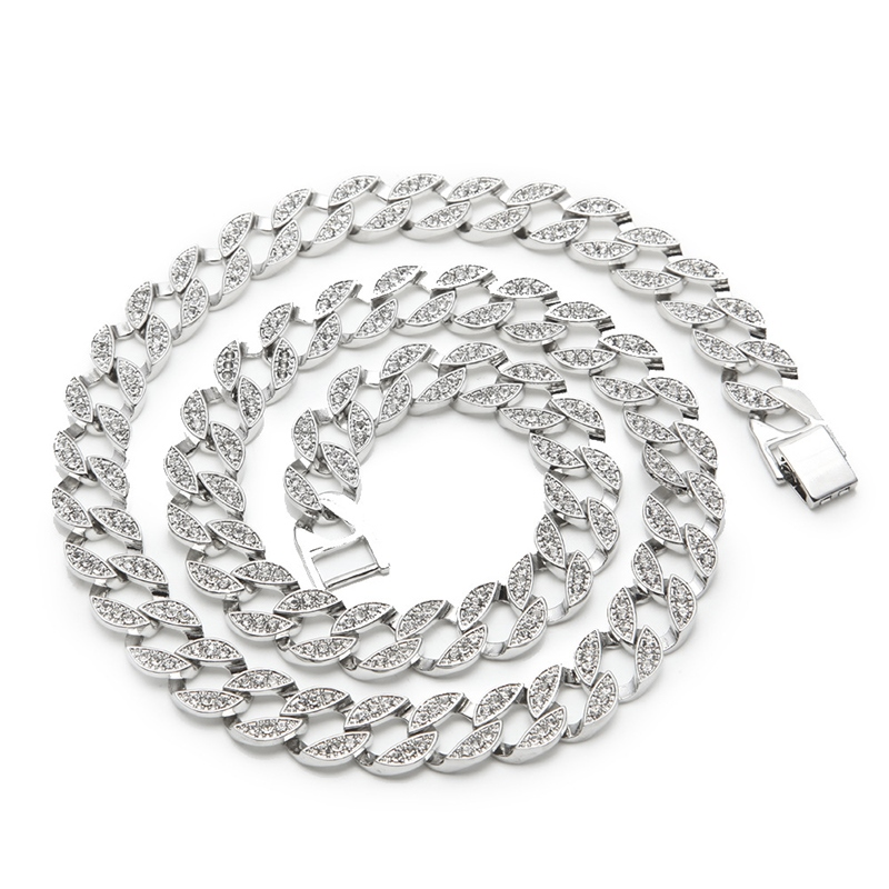 Ericdress Cuban Style Diamante Hiphop Necklace