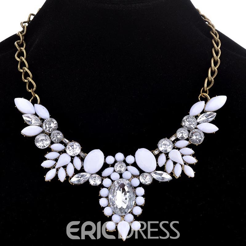 Ericdress Gems Crystal Charm Necklace