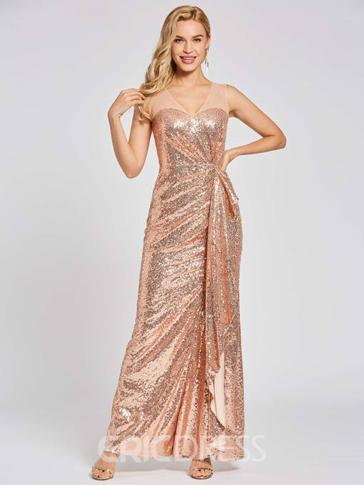 Ericdress Presale Scoop Neck Sequins Sheath Evening Dress