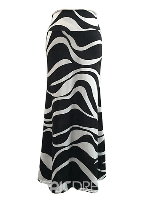 Ericdress Bodycon Zebra Striped Plusee Women's Skirt