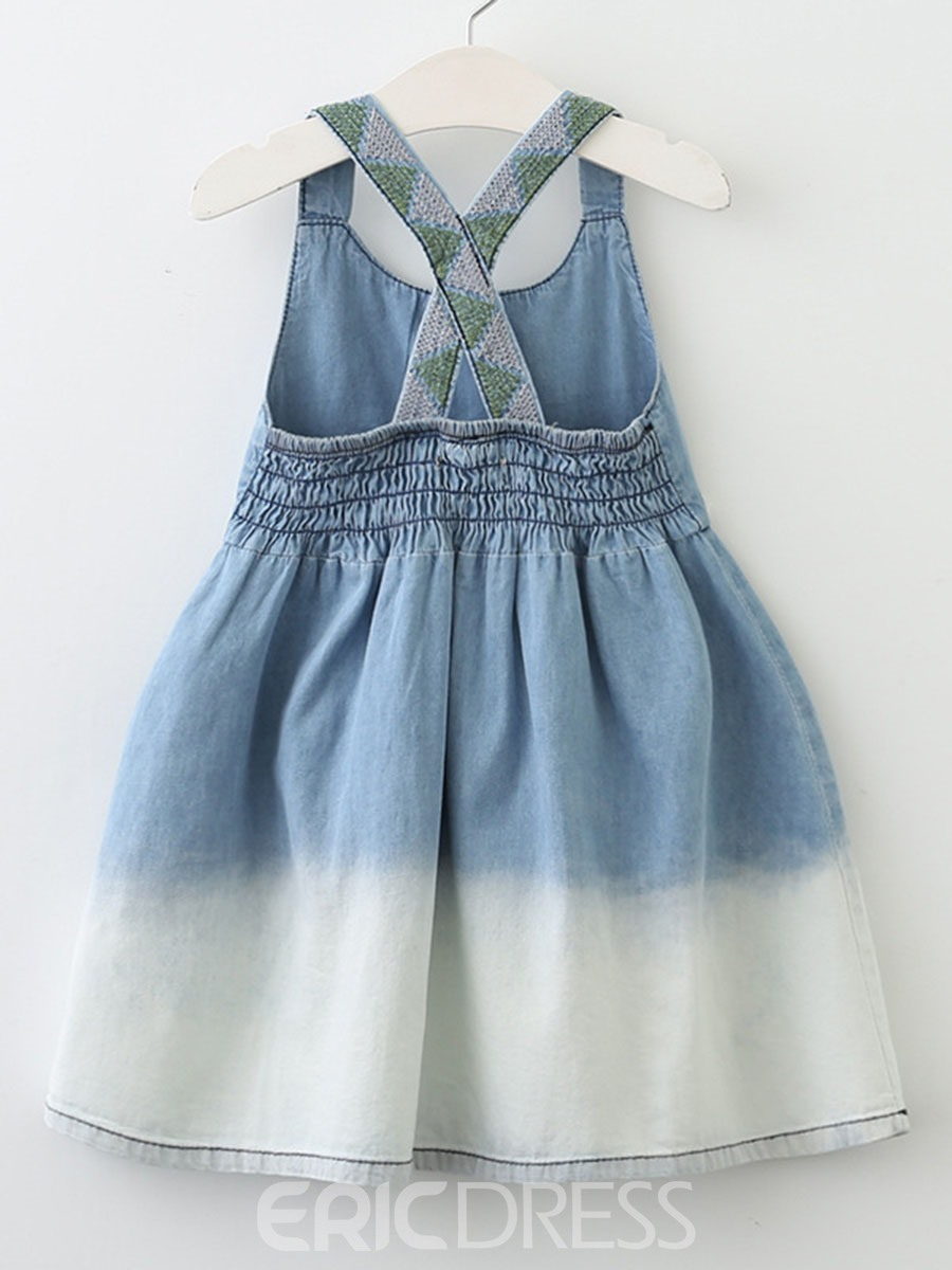 Ericdress Backless A-Line Spaghetti Strap Girl's Casual Dress