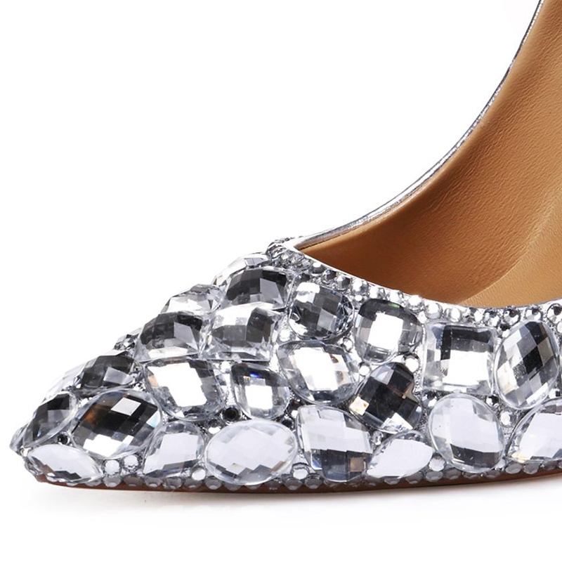 Ericdress Diamond Slip-On Stiletto Heel Pointed Toe Pumps