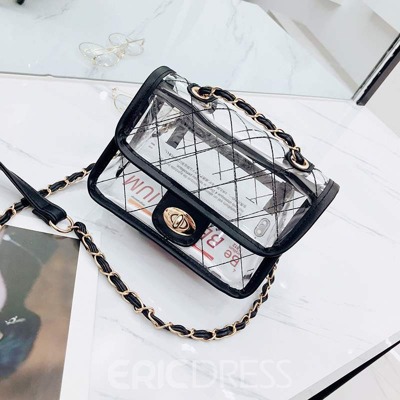 Ericdress Summer Knitted Plaid Small Crossbody Bag
