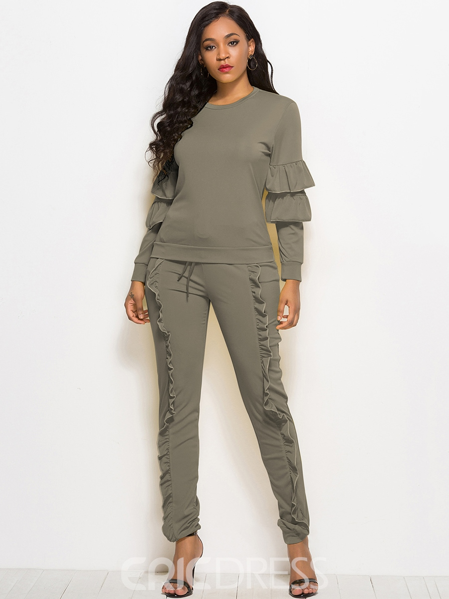 Ericdress Hoodie and Pants Women's Two Piece Set